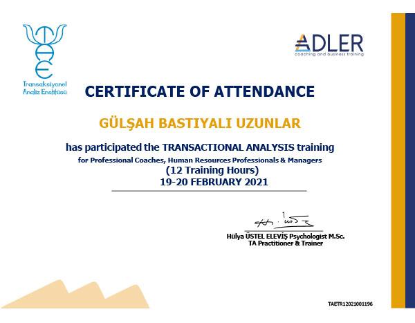 Adler Coaching and Business Training - Transaksiyonel Analiz Eğitimi